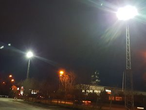 F H Brundle external LED floodlights installed by Home Counties Electrical Services