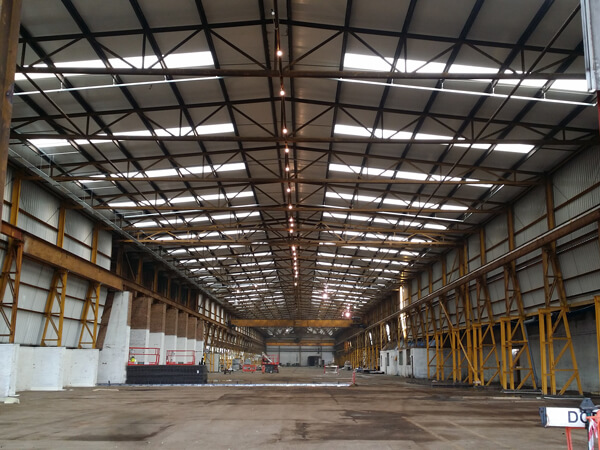 Industrial warehouse electrical stripout Burton on Trent