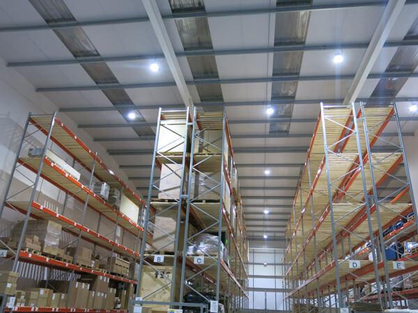 Warehouse high level LED lighting Surrey