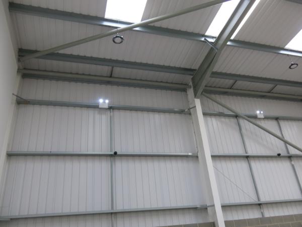 warehouse led lighting installation