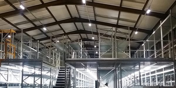 warehouse lighting installation